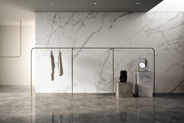 Ceramiche-Coem_WideGres_Imperiale-effect-120x260-Levigato-Rett+Statuario-eEffect-120x260-Matt-Rett