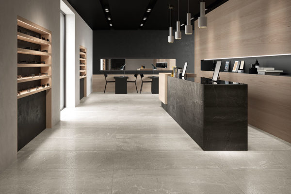 Piastrelle-grandi-formati_Ceramiche-Coem_Blendstone_Grey_Stripes-Graphite